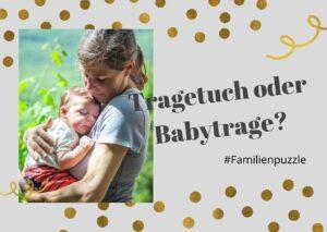 Tragetuch oder Babytrage? Zwei Babys – zwei Meinungen