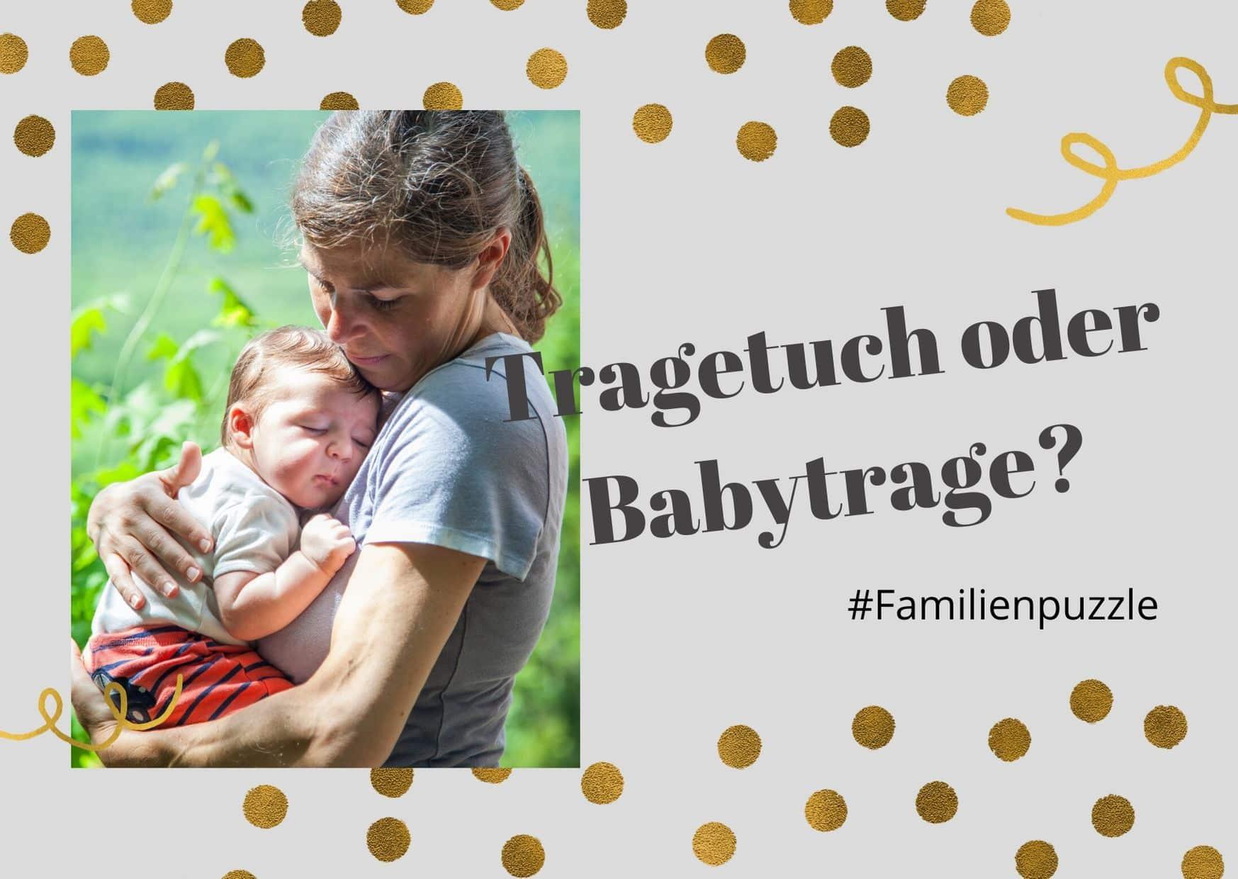 Cover-Bild: Tragetuch oder Babytrage. Mama mit Baby