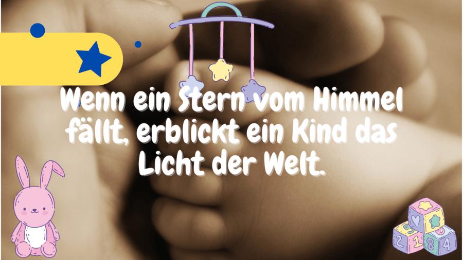 Schöne Sprüche zur Geburt.