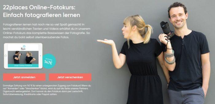 22places Online-Fotokurs - Einfach fotografieren lernen.