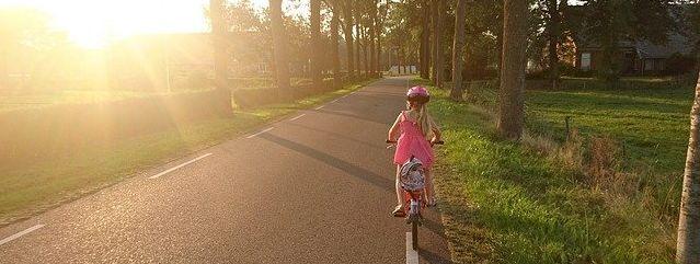 Fahrrad fahren lernen.