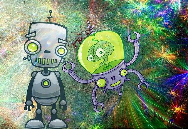 Spielzeug-Roboter für Kinder.