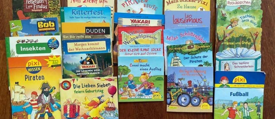 Pixi Bücher sind perfekt für den Lese-Einstieg.