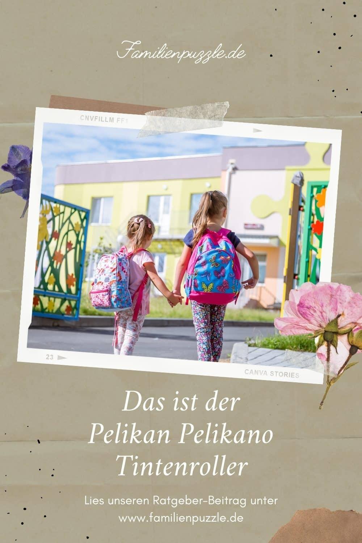 Mädchen in der Schule: Wir stellen den Pelikan Pelikano Tintenroller vor.