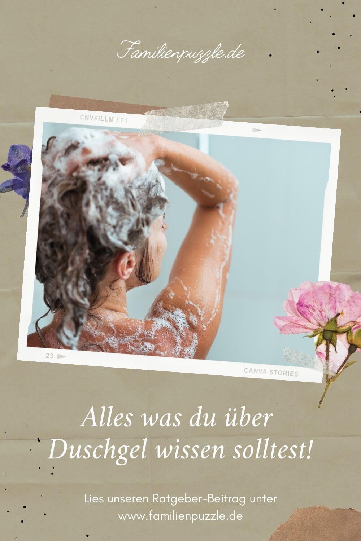 Für empfindliche Haut solltest du dein Duschgel besonders sorgfältig heraussuchen. Auf dem Foto: Eine duschende Frau.