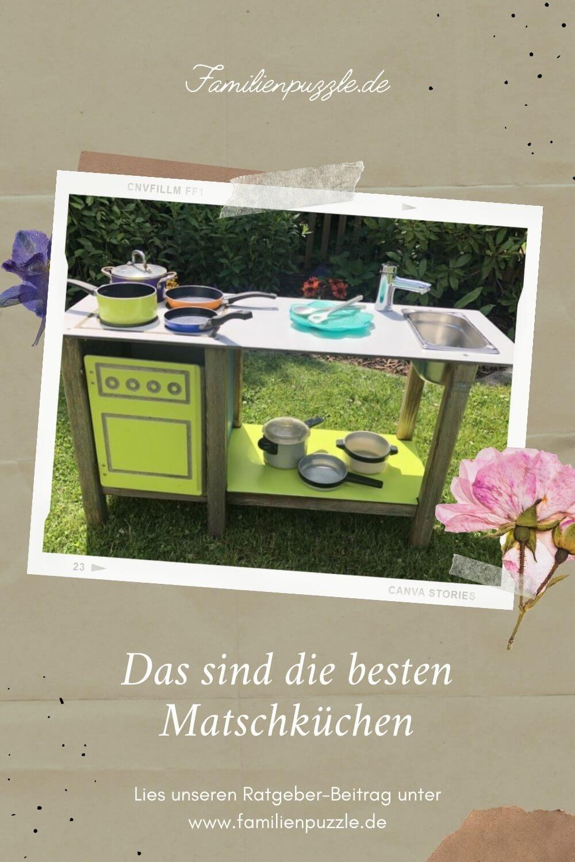 Eine Matschküche bereitet großen und kleinen Kindern Freude. Doch für welches Modell soll man sich entscheiden? Auf dem Foto: Eine Matschküche im Garten.