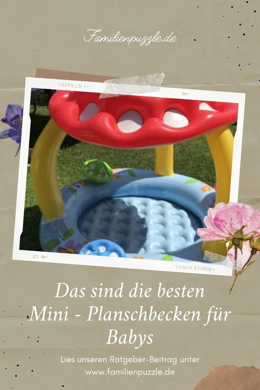 Mini-Planschbecken und Mini-Pools fürs Baby bieten eine wunderbare Abkühlung. Aber worauf solltest du unbedingt beim Kauf achten? Auf dem Foto: Ein überdachter Mini-Pool für Babys.