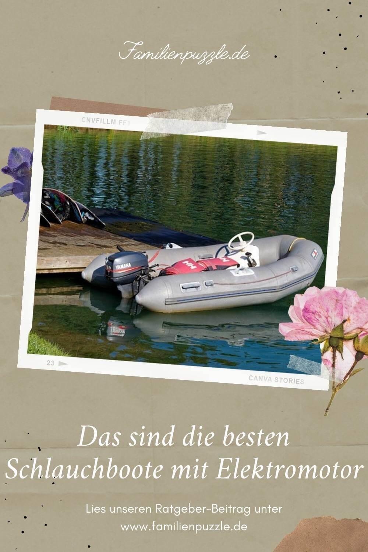 Schlauchboote mit Elektromotoren bringen im Sommer Spaß.