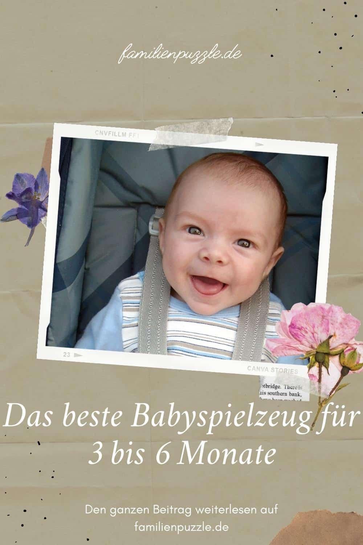 Das beste Babyspielzeug für 3 bis 6 Monate. Auf dem Foto: Ein lächelndes Baby.