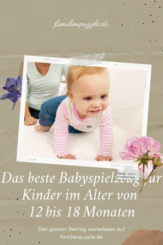 Das beste Babyspielzeug für Kinder im Alter von 12 bis 18 Monaten. AUf dem Foto: ein krabbelndes Mädchen.