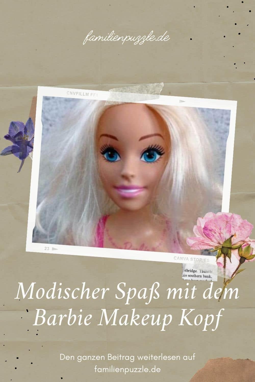Das sind die besten Barbie Styling Köpfe. Auf dem Fot: Ein Barbie Makeup head.