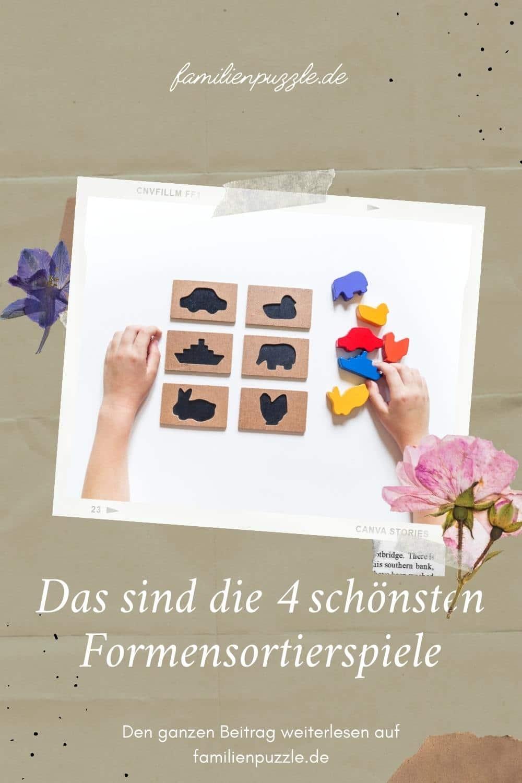 Das sind die schönsten Formensortierspiele. Auf dem Foto: Ein Kind legt ein Sortierspiel.