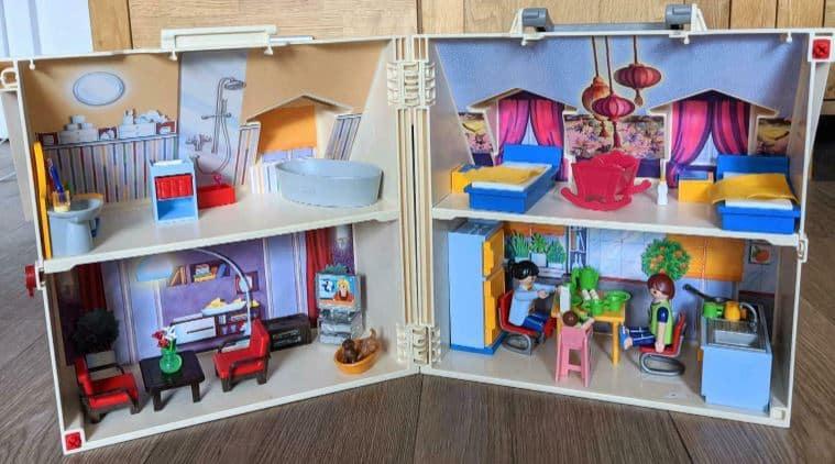 Ein Puppenhaus zum Mitnehmen von Playmobil.