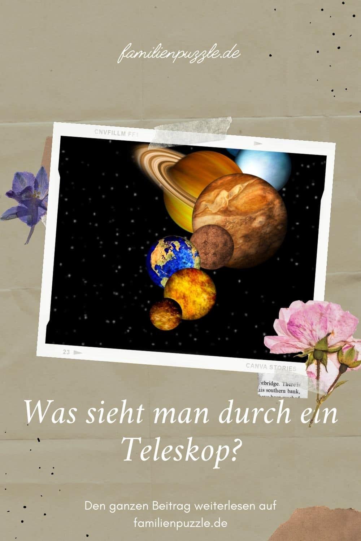 Teleskop für Kinder. Auf dem Foto: Die Planeten unseres Sonnensystems.