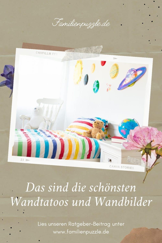 Wandtatoos und Wandbilder verschönern jedes Kinderzimmer.