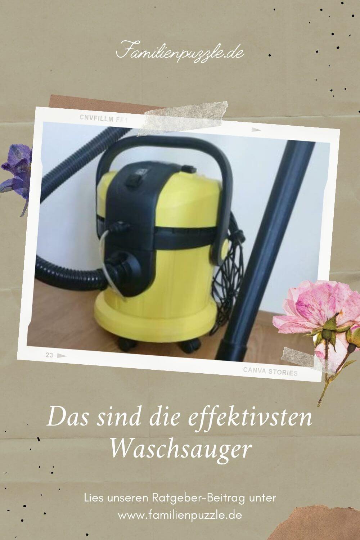 Ideal zur Bekämpfung von Hausstaub sind Waschsauger. Auf dem Foto abgebildet ist ein Kärcher Waschsauger.