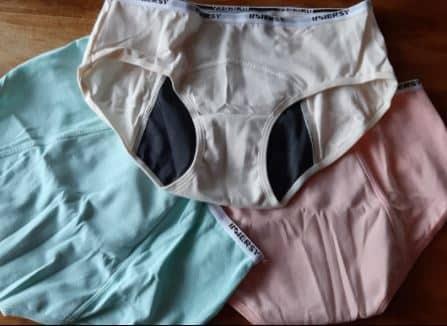 Auf dem Foto: Menstrautionsunterwäsche.